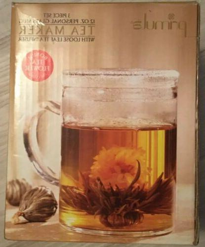 NIB Personal Tea Maker/Pot Glass! 3 Piece