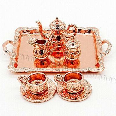 odoria 1 12 8pcs vintage copper tea