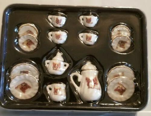 Porcelain Cup Set Cat Kitchen