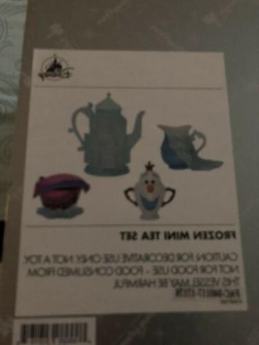 Disney Parks Decorative Mini Tea Set Olaf Anna and New Box
