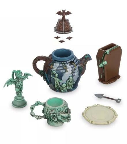 Disney Parks Haunted Mansion Mini Tea Set Ghosts Gargoyle Out