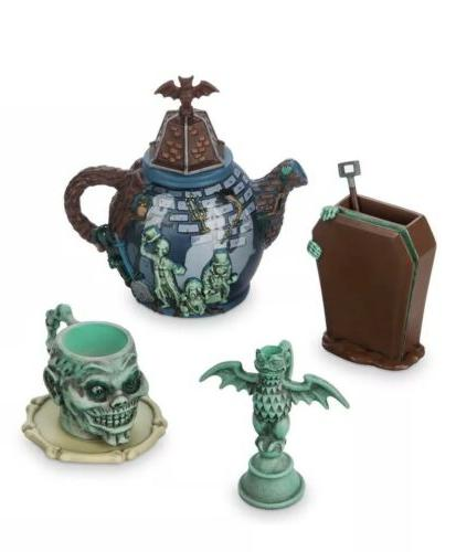 parks haunted mansion mini tea set hitching