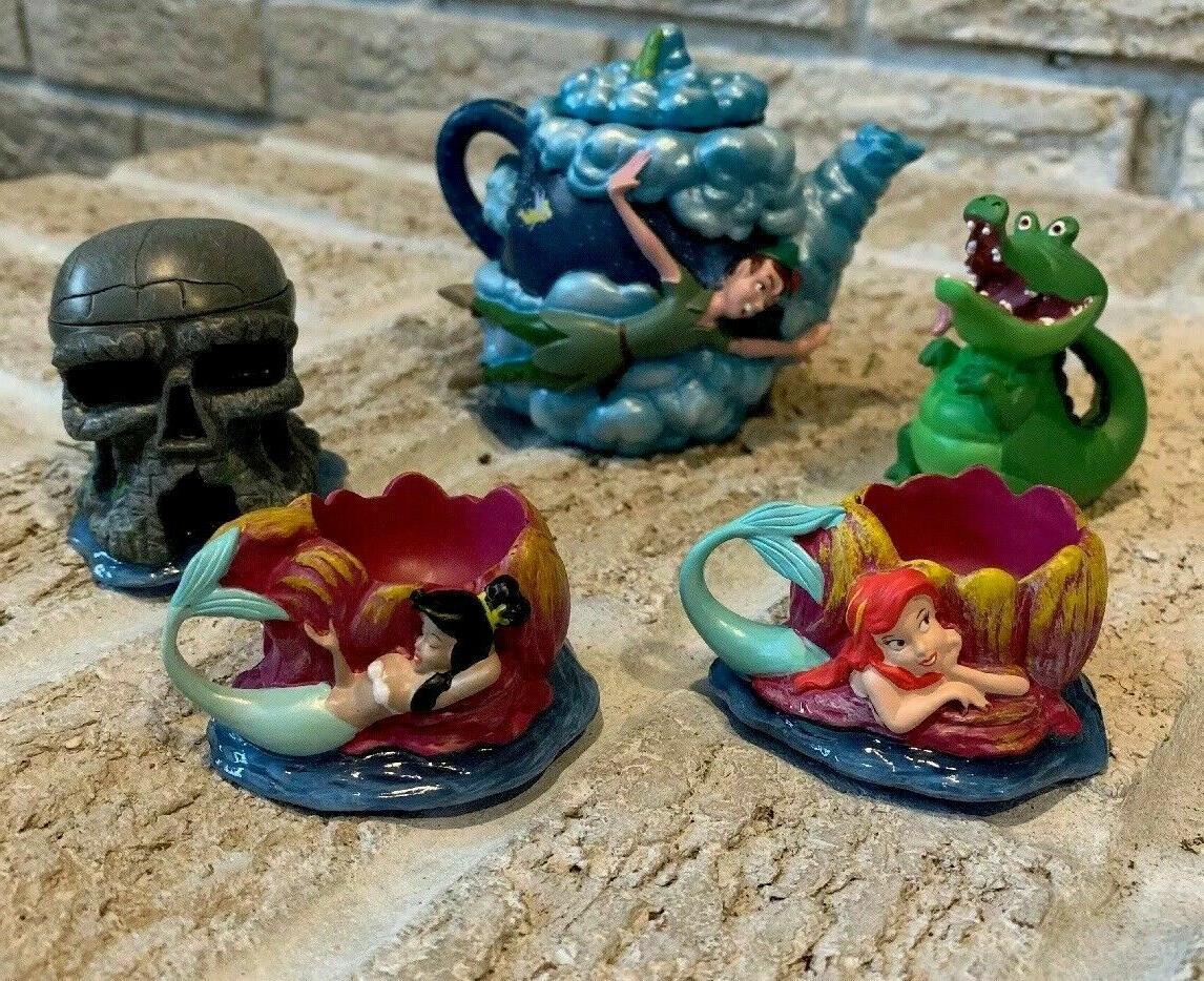 Disney Parks Peter Pan Mini Tea Set Teapot statue figure set