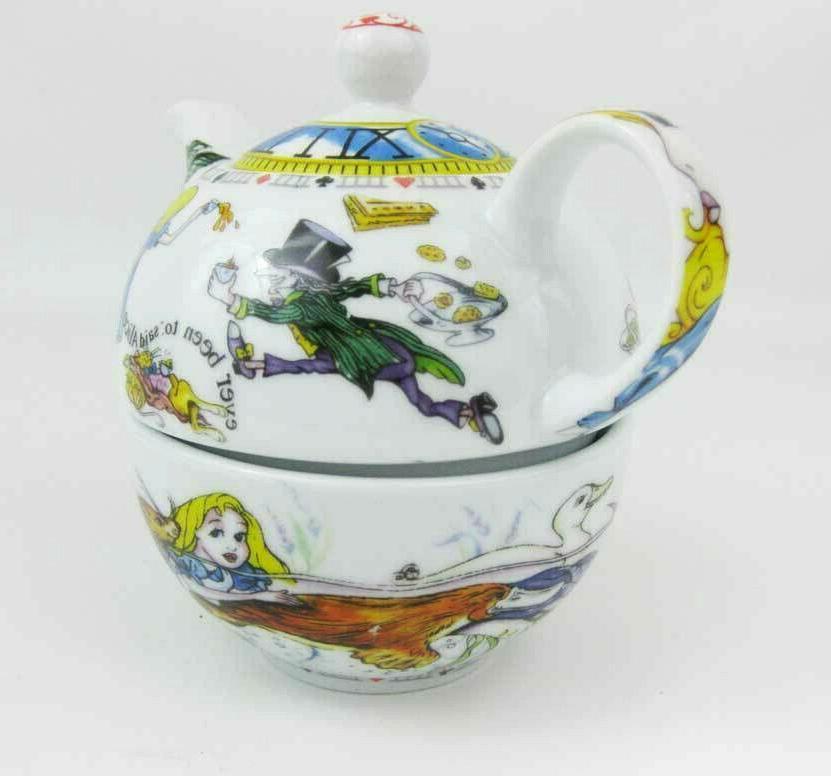 Paul Cardew Alice In Wonderland Teapot Oversized Cup Set