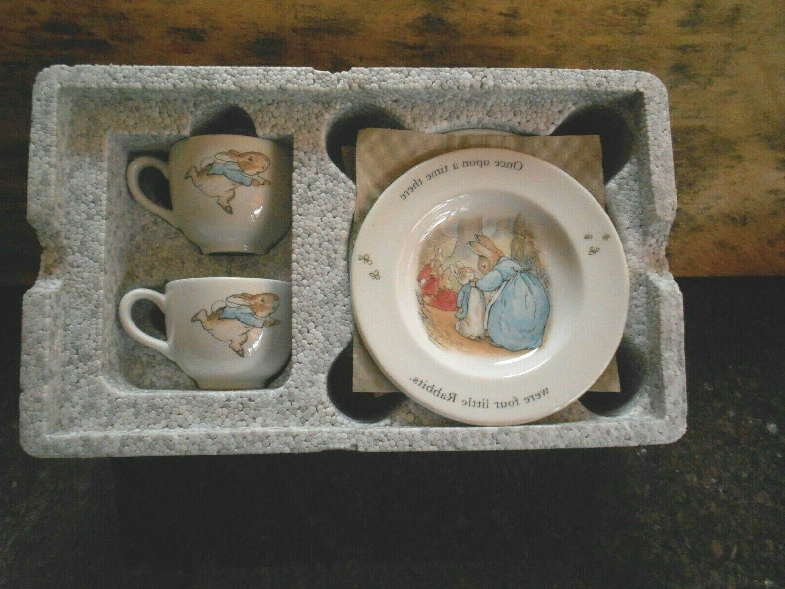 Peter Rabbit piece Tea Set Potter NIB!