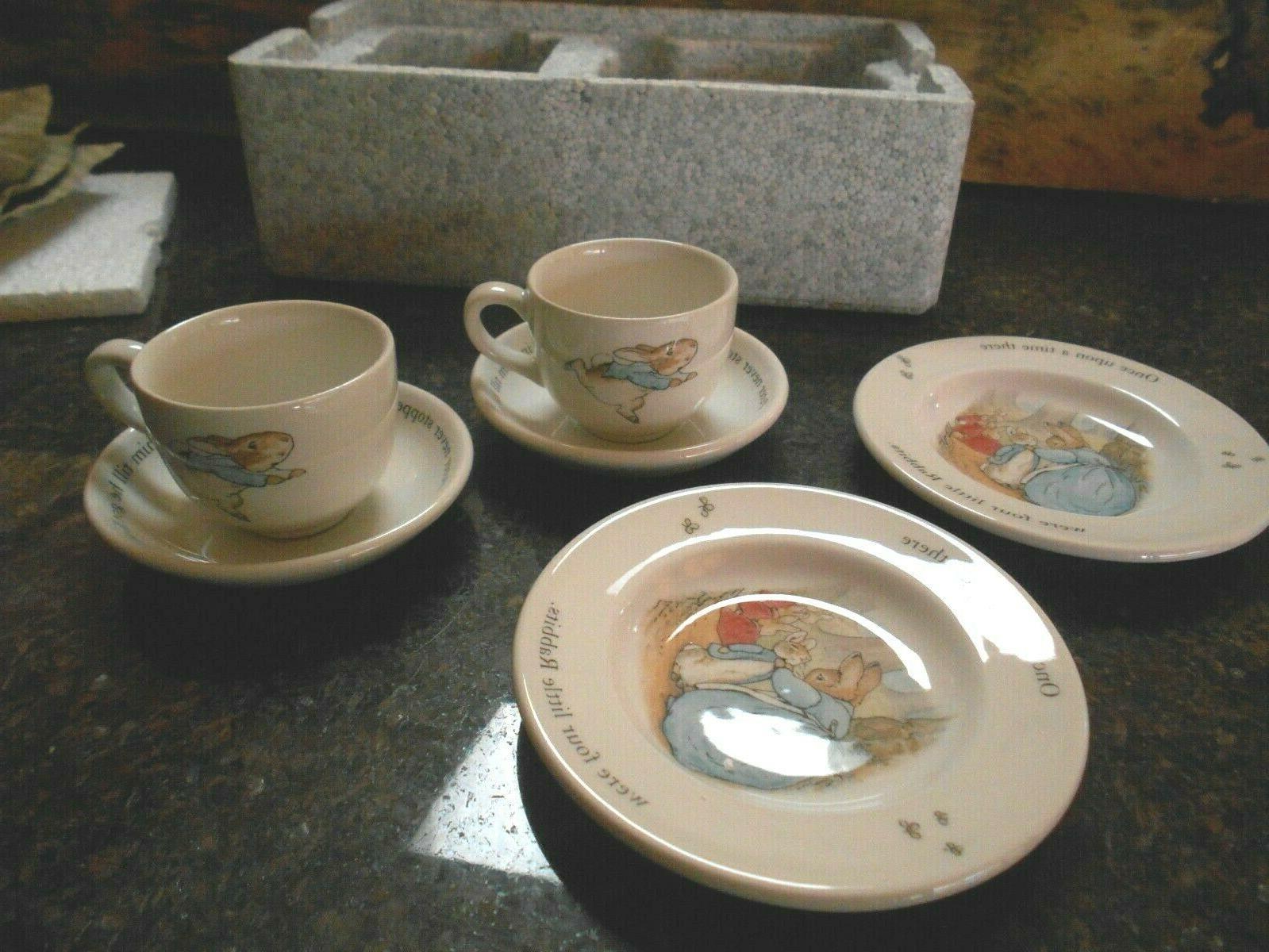Peter Rabbit Children's 6 piece Tea Set