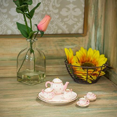 Pink Dot Design Porcelain 10 pc. Party Set