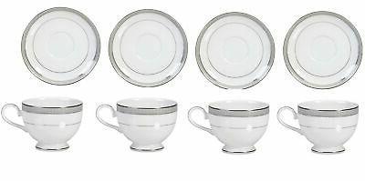 platinum crown tea cups saucers