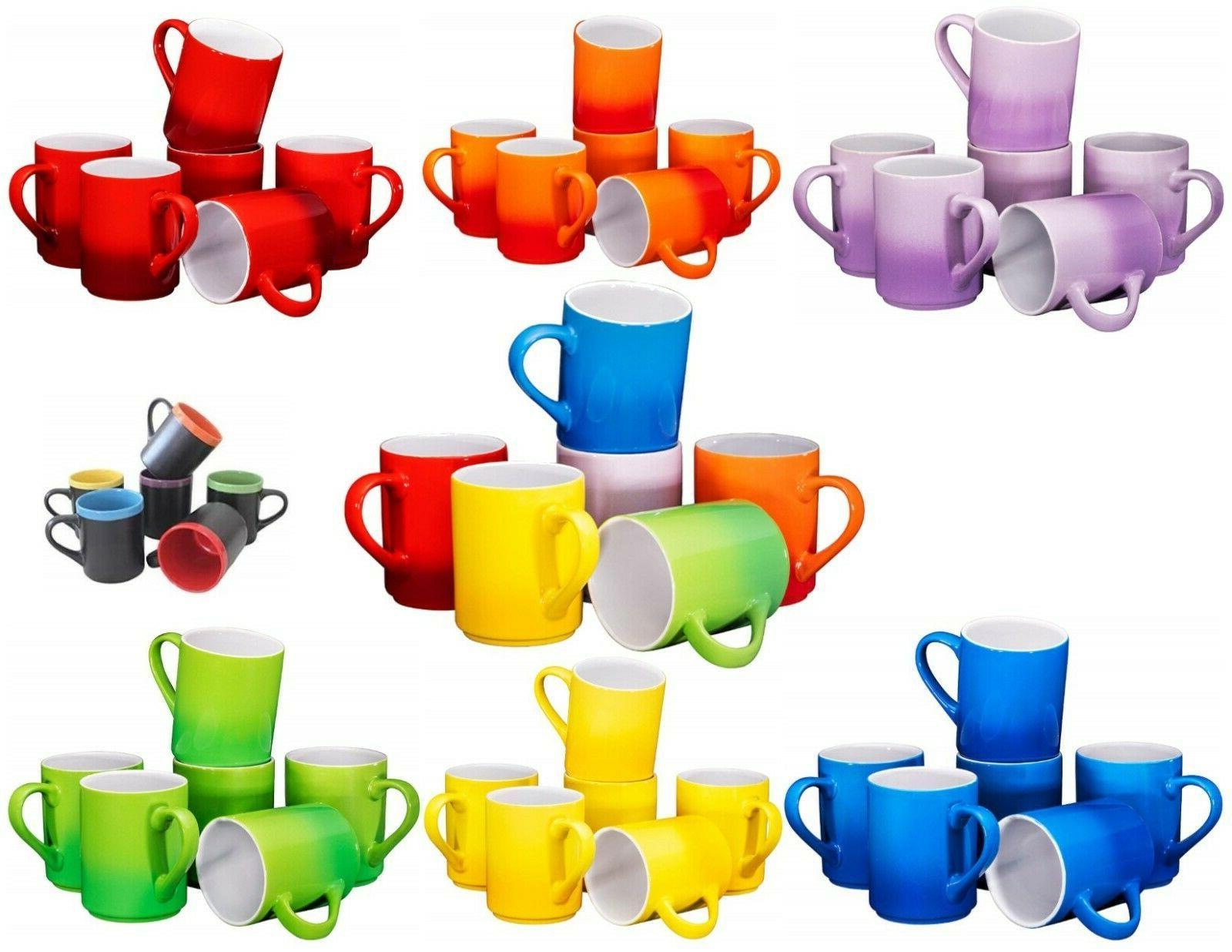 porcelain coffee cups mugs set of 6