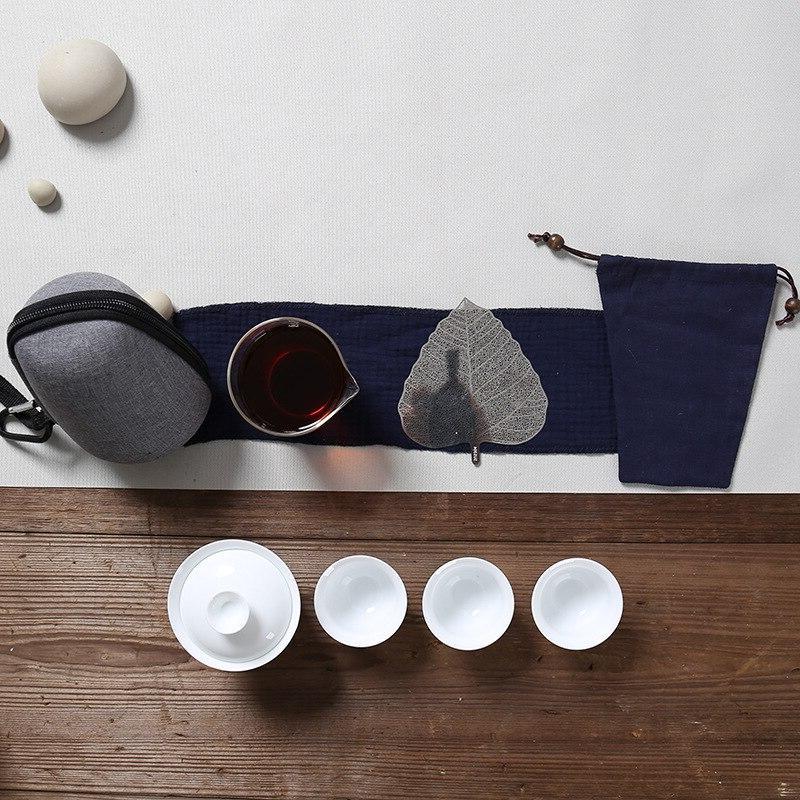 Porcelain <font><b>Tea</b></font> Cups Mug of <font><b>Tea</b></font> Ceremony Portable Kung Fu <font><b>Tea</b></font> Travel