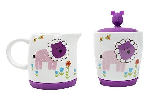 Premium 7 Piece Porcelain Kid's Tea - fun Backyard design silicone to cushion - Free gift for any child!