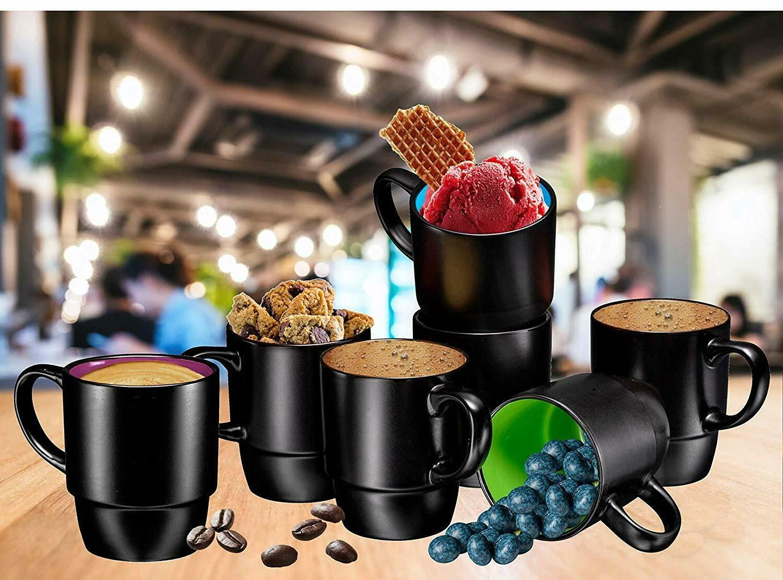 Bruntmor Stacking Mug Tea Cup Set