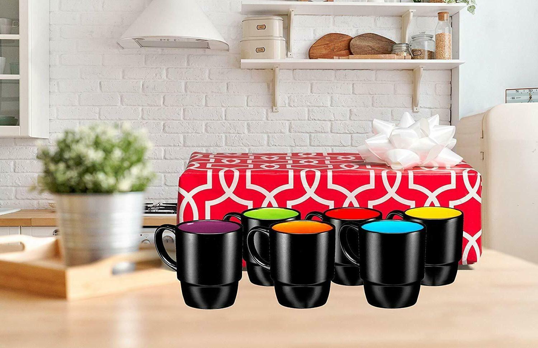 Bruntmor Mug Set Cup Set Black Ounce