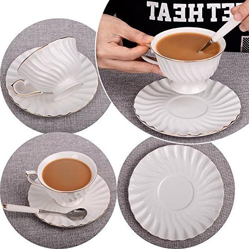 Porcelain Saucer Coffee Set of