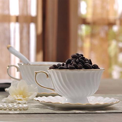 Porcelain Tea Cup Saucer with Saucer Set of