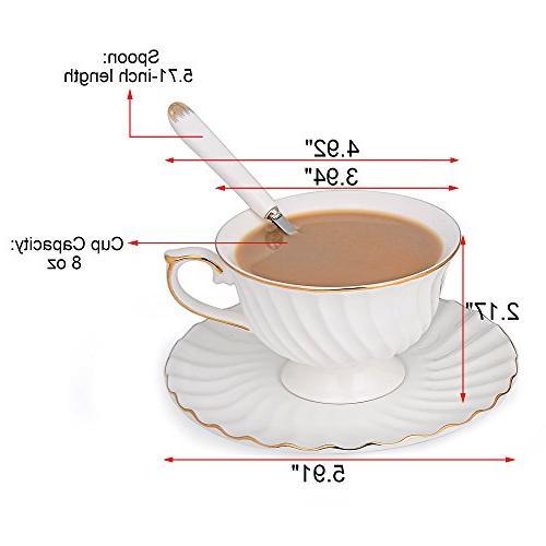 Porcelain Saucer Set SI-STW-W