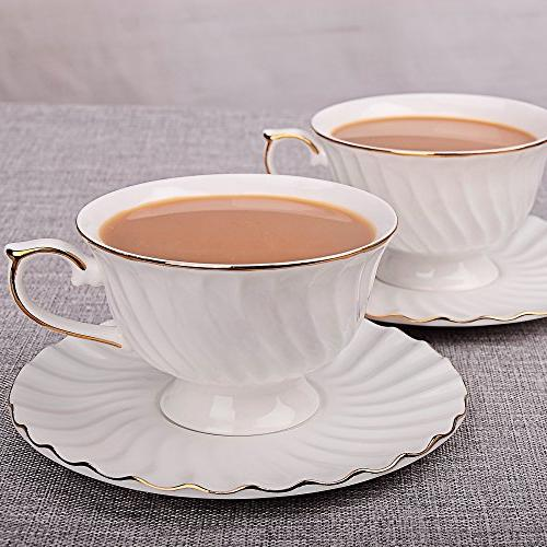 Porcelain Tea Saucer Coffee with Saucer Spoon, Set