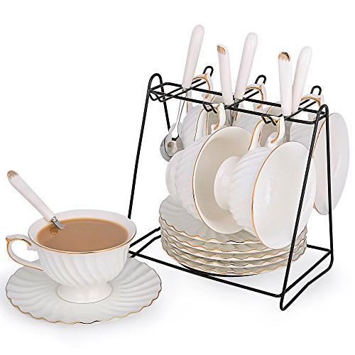 porcelain tea cup saucer coffee