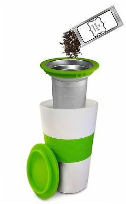 Premium Tea Infuser And Mug Set, Brew-In-Mug Stainless Steel