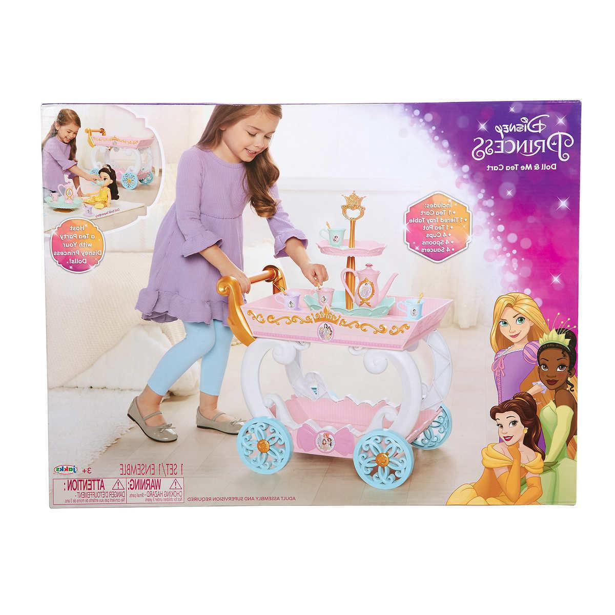 Disney Princess Tea Cart with Tea Play Set NEW
