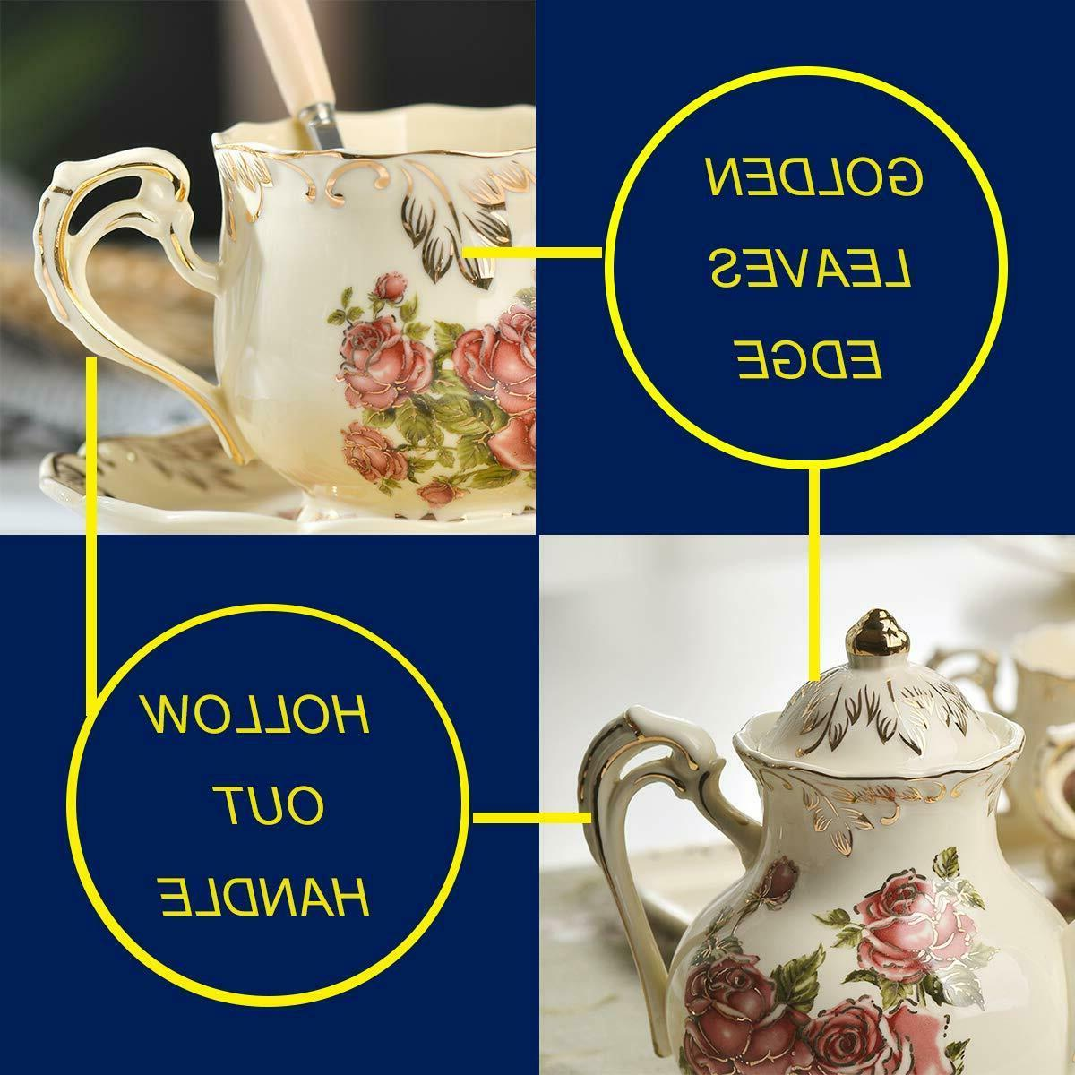 Red Tea Set,Vintage Tea With