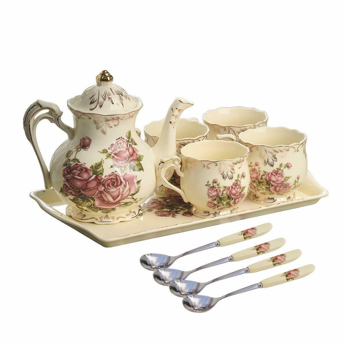 Red Rose Tea Tea With Teapot