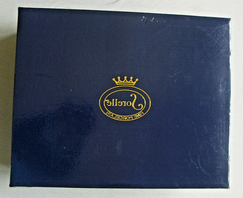 SORELLE ROMANTIC PORCELAIN 17 SET GOLD ACCENTS NEW IN BOX