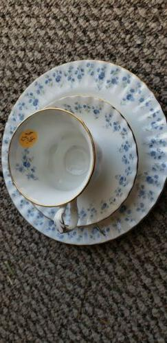 Royal Albert Tea Set Blue Foral