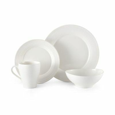 ryder white 16 piece dinnerware set service