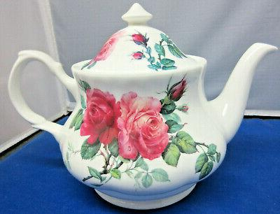 SALE**ENGLISH ROSE SET, TEAPOT SAUCERS ENGLAND