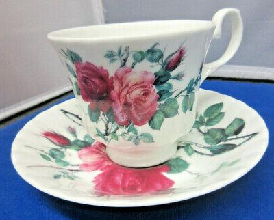 SALE**ENGLISH ROSE TEAPOT SAUCERS CHINA ENGLAND