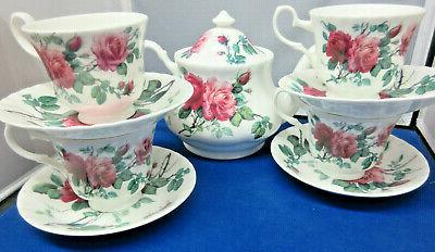 sale english rose tea set teapot
