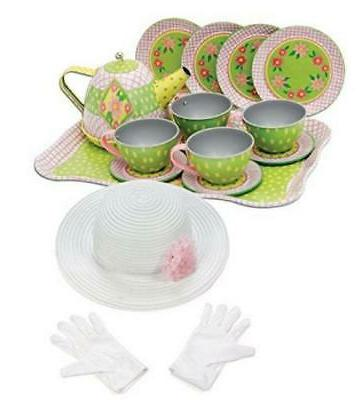 schylling floral tin tea set in a
