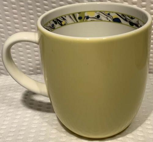 "Set Of 4"" Novella Yellow Coffee Cup"