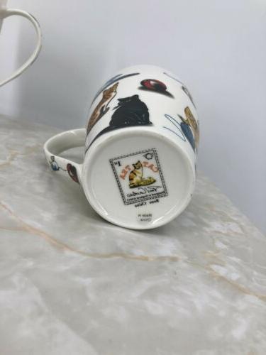 Set Cardew Cat China Oz. Mugs