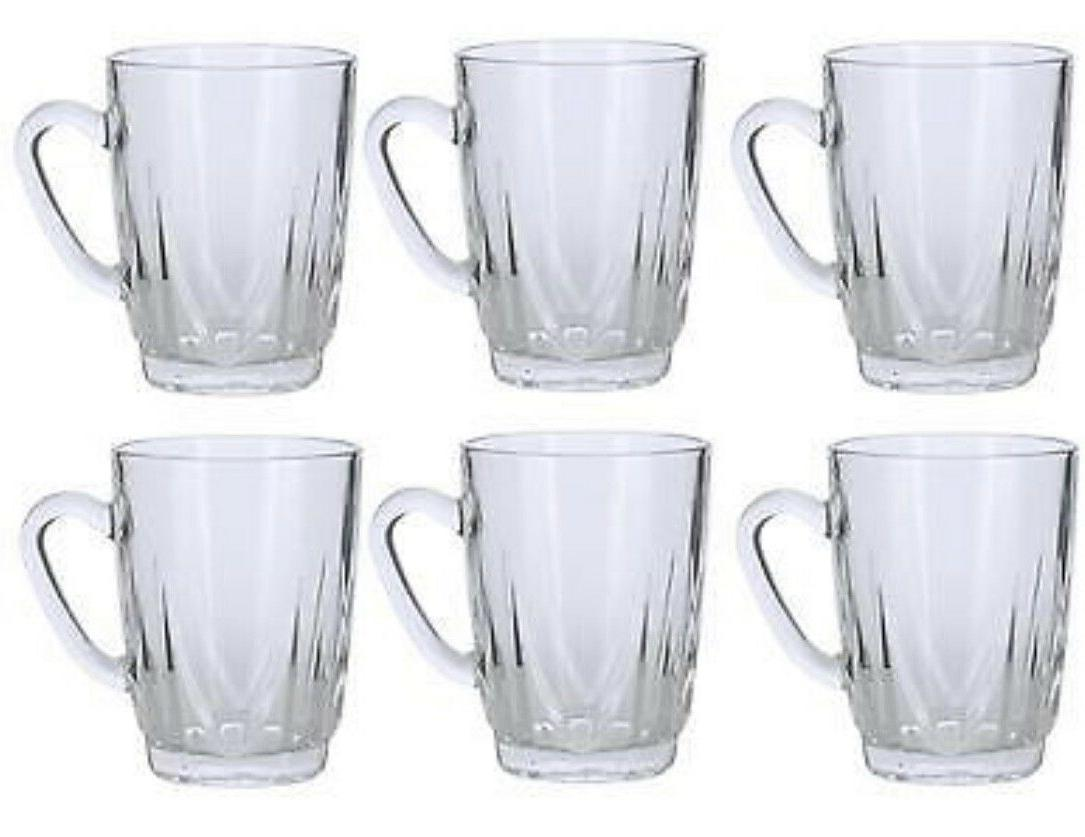 set of 6 glass tea cups 8