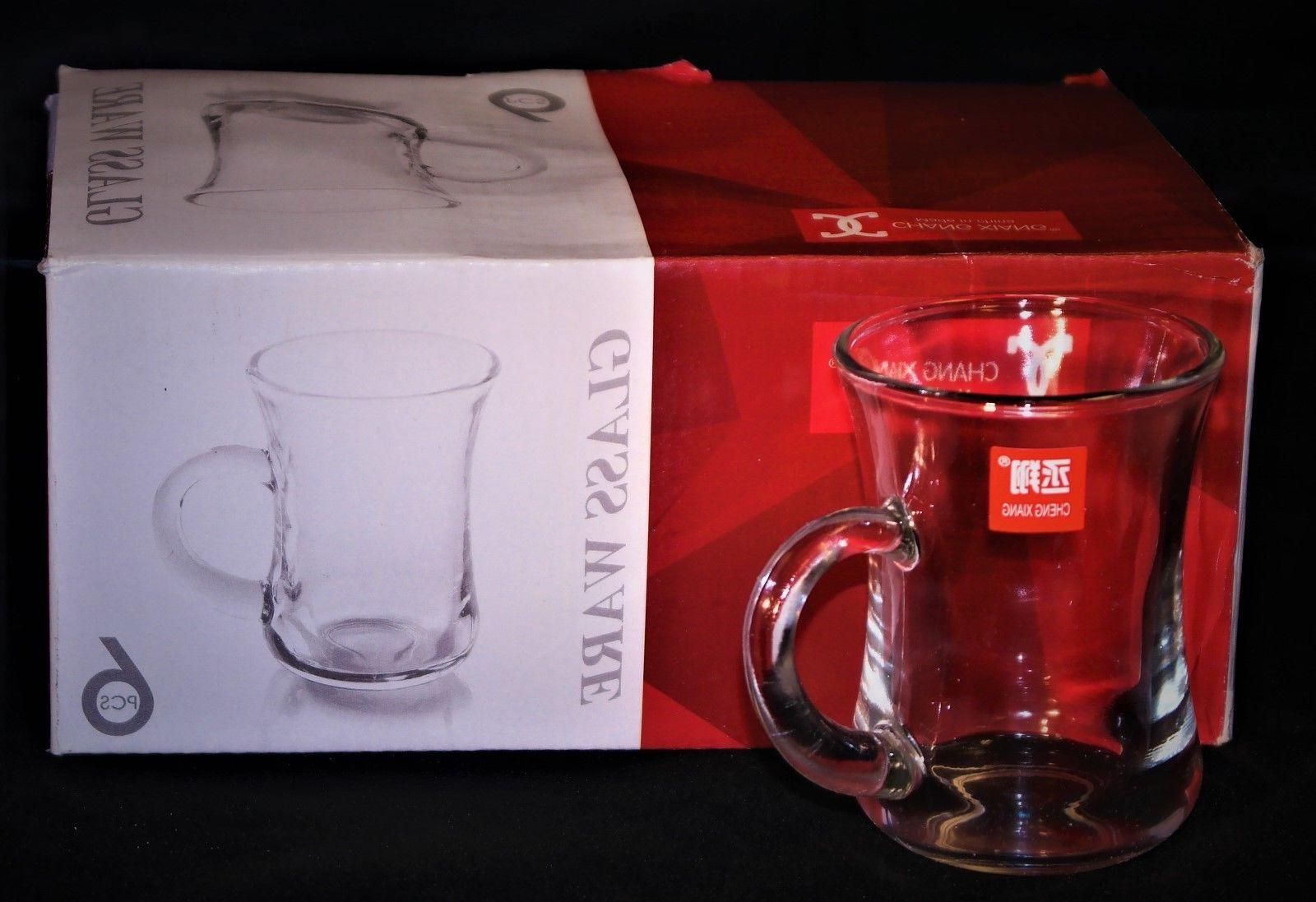 set of 6 turkish tea glass serving