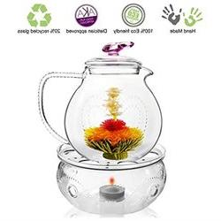 Tea Beyond Tea Set Teapot Pink Love 34 Oz 1000 Ml Warmer Wav