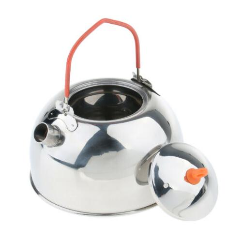 Silver Whistling Kettle Teapot Stove Top Coffee Tea Pot for