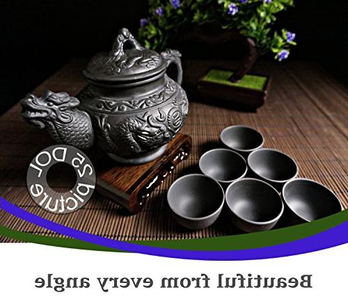 """Sipping Tea Pieces with Premium Quality Yixing Purple Clay - Teapot """"Supreme"""