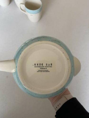Rae Polka Dot Teapot Set Mugs