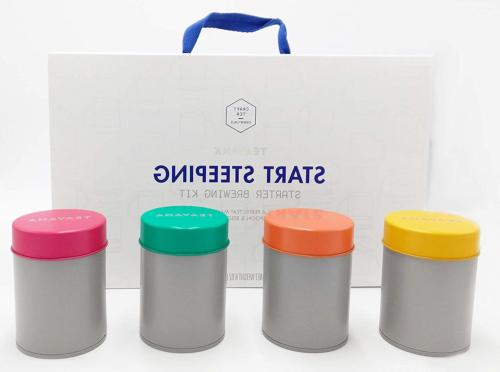 start steeping starter brewing kit with blue