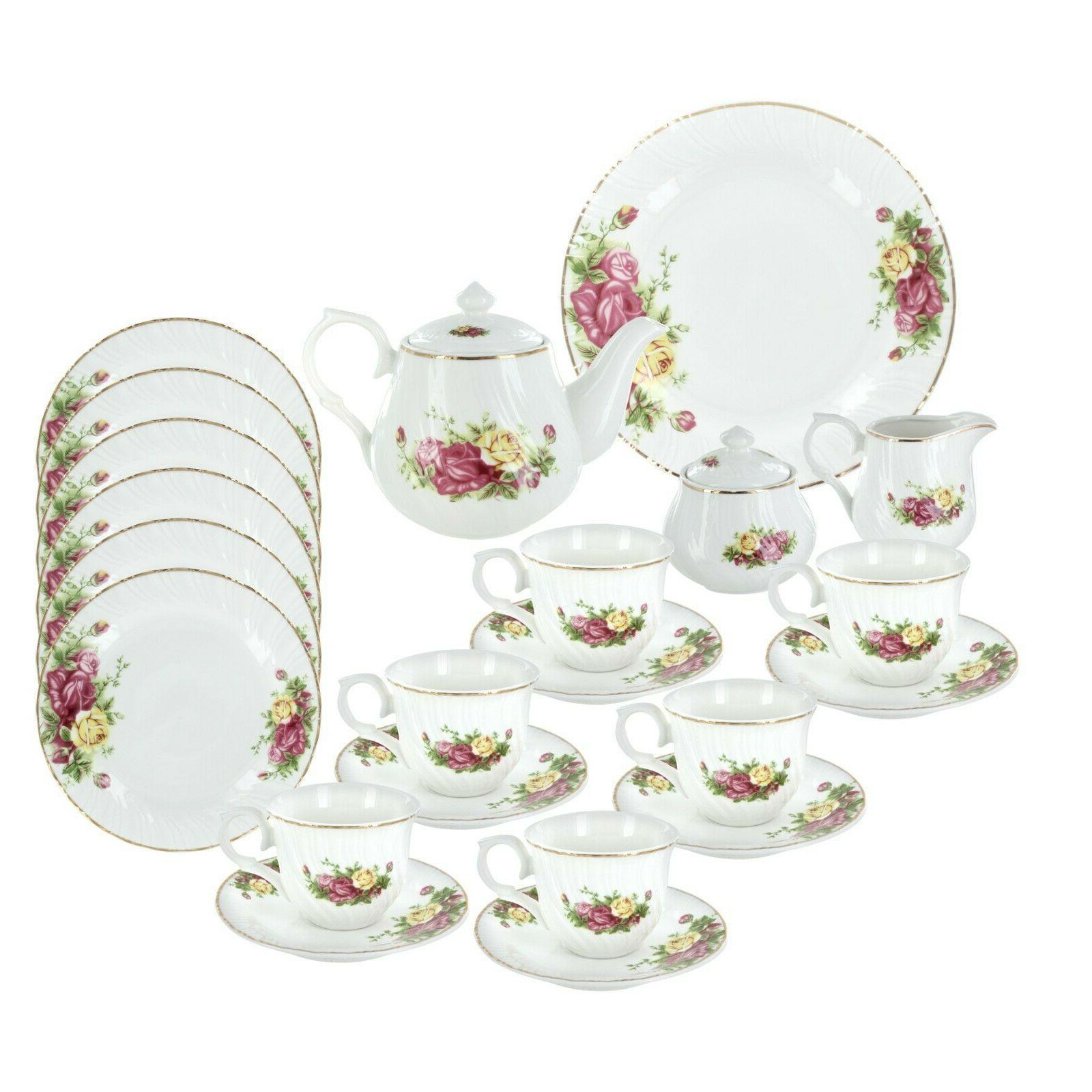 summertime roses tea set