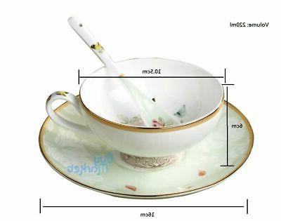 Tea Cup CUP/SAUCER/SPOON Coffee High Tea