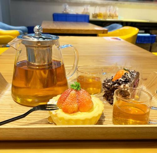 Tea of 4 Glass Handle Heat Resistant