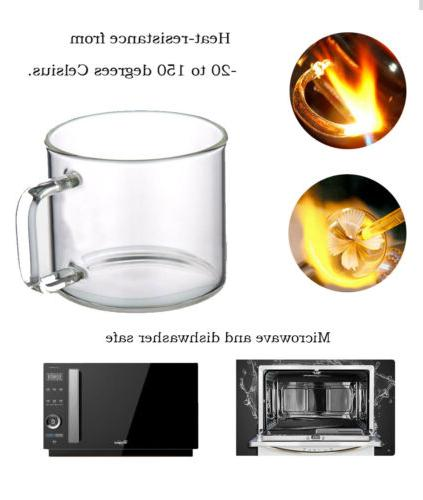 Tea 4 Teacups Handle 120ml/4oz Heat Resistant
