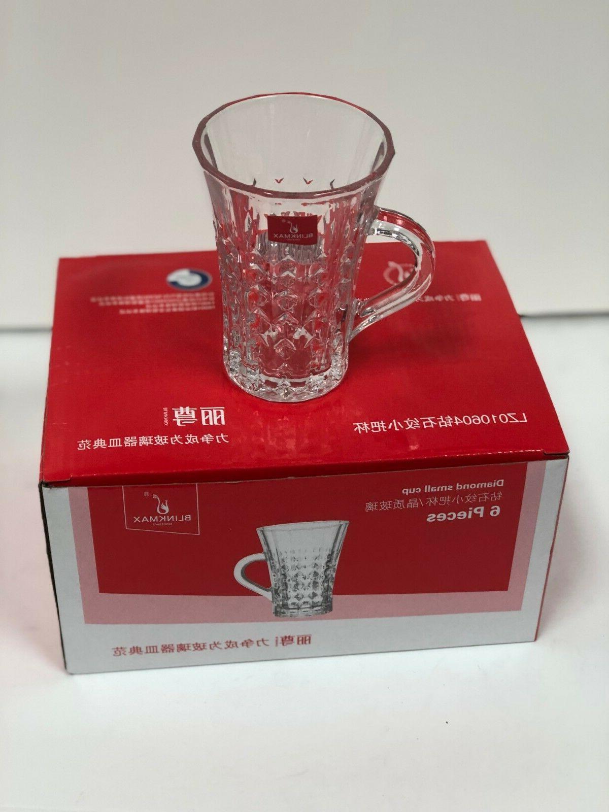 Turkish Tea glass Cups Set 6 Clear ...!