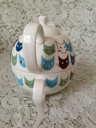 TEA ONE Teapot and Cup ~Cats