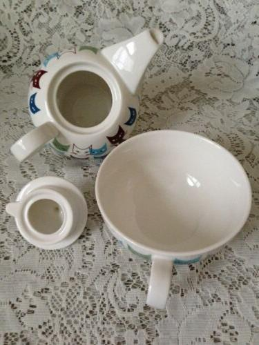 TEA FOR ONE Stackable Teapot ~Cats