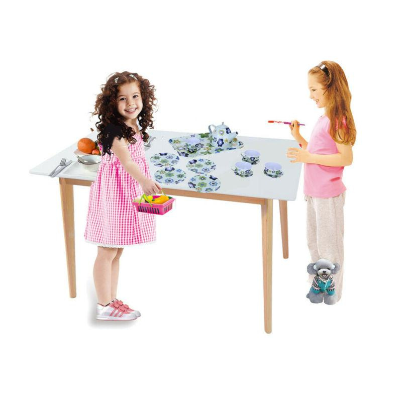 Tea Party Set Girls Pretend Play Toy Porcelain Ceramic Tea S